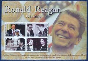 GéNéReuse Grenade 2004 Ronald Reagan Politique Le Président Américain 5521-5524 Tamponné Neuf Sans Charnière