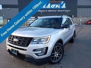 2017 Ford Explorer Sport Sport 4WD 3.5 EcoBoost, Leather, Sunroof, Navigation, Heated+Cool Seats, Power Liftgate, 20 Alloys