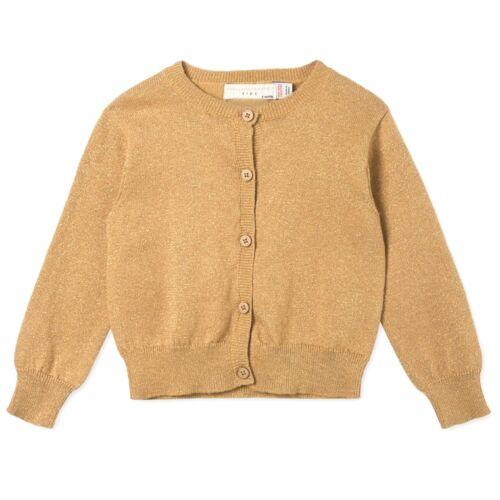 STELLA McCARTNEY baby girl Gold Cotton Lurex CARDIGAN 9 12 18M fine knit BNWT