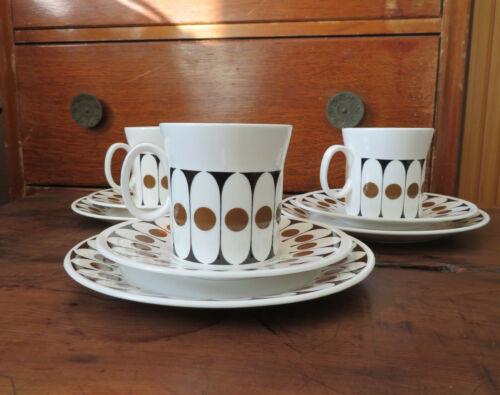 Colección anfitriona por John Russel Vintage Terciopelo Negro Retro Conjunto De Café