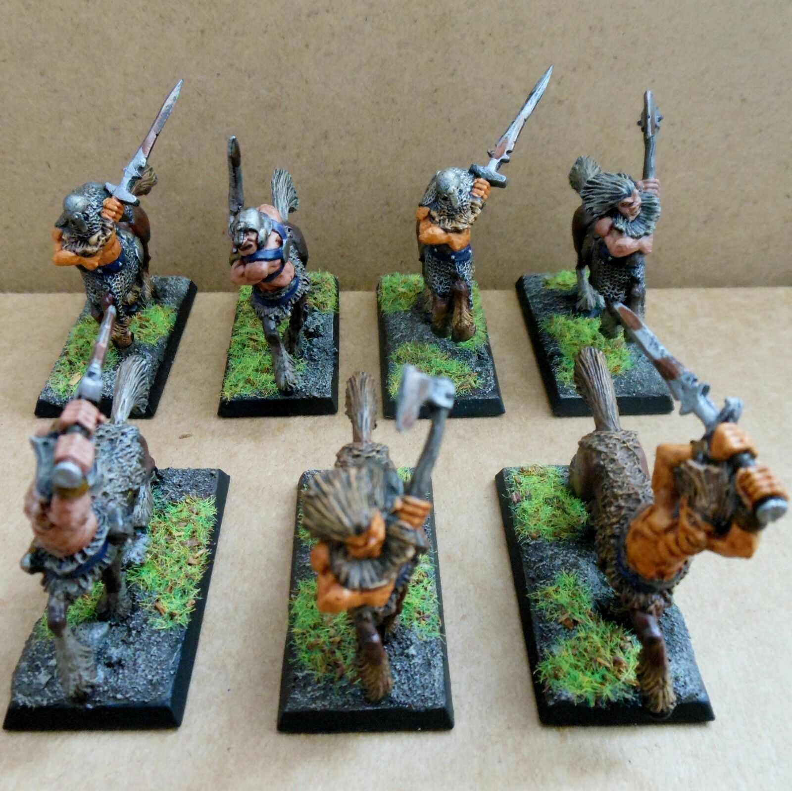 1987 Chaos Centaurs CH4 Citadel Pro Painted Warhammer Army Evil Hordes Cavalry