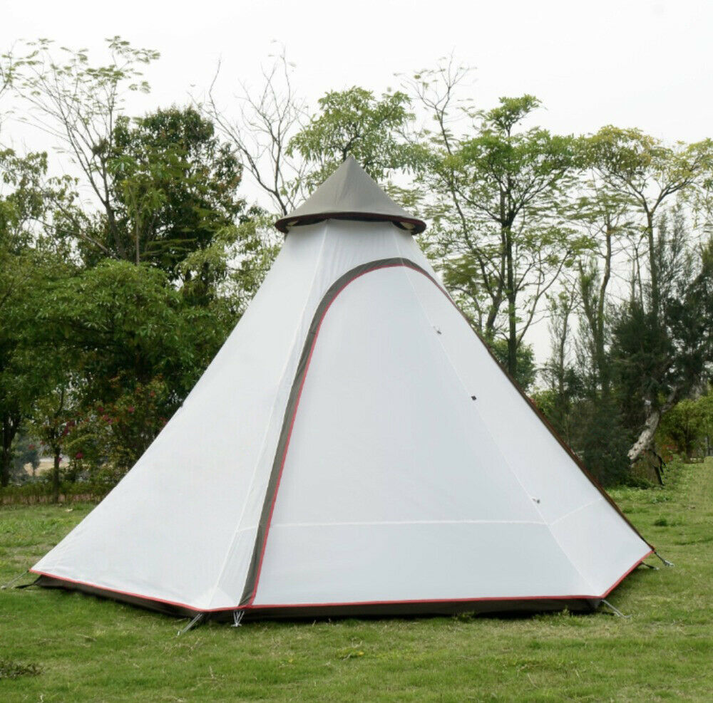 UK Shipping LichtWeight WaterBesteendig Polyester Indische Tipi Tent Camping Teepee Tent