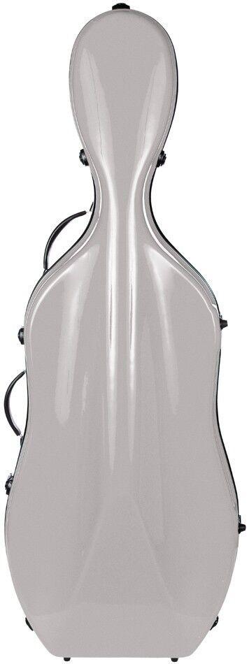 De Cello Case Fiberglass Excellent 4 4 M-Case Silber