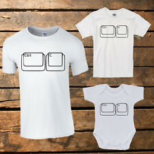 Copy & Paste matching t-shirt set (All sizes) family, gift, dad, mum, son, girl