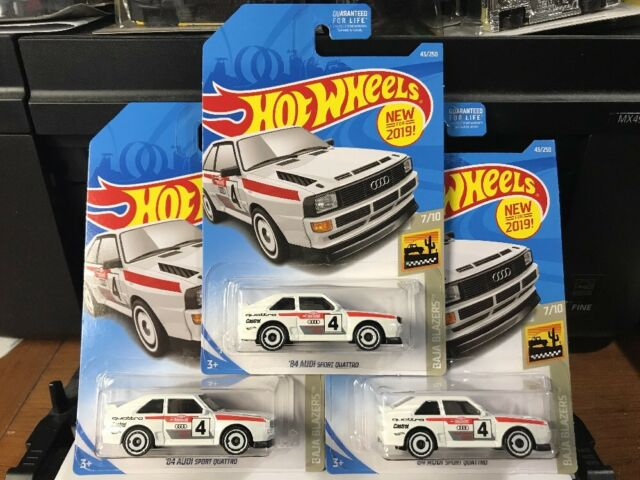 '84 AUDI SPORT QUATTRO * LOT OF 3 * 2019 HOT WHEELS * WHITE 1984 FIRST EDITION