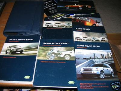 2006 Land Range Rover Sport Owners Manual Set W Case Ebay border=