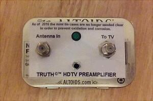 TRUTH-AMP-HD-UHF-VHF-HDTV-Digital-TV-Antenna-Signal-Booster-Amplifier