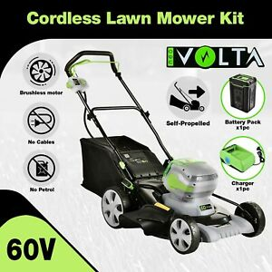 [15%OFF] 60V Cordless Self Propelled Lawn Mower Kit Li-Ion Battery Powered Grass