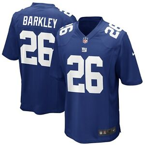 pretty nice 98774 af681 Details about Youth New York Giants Saquon Barkley Nike Royal 2018 NFL  Draft Pick Game Jersey