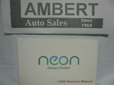 1996 Dodge Neon Owners Manual