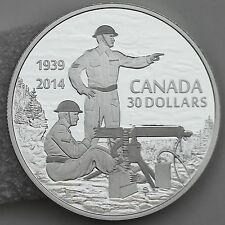 2014 $30 Machine Gun Training WWII Anniversary, 2 oz Pure Silver Proof Coin