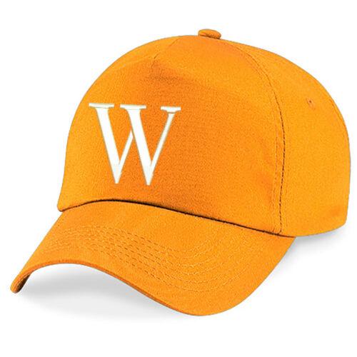 Kinder Stickerei Baseballkappe Mädchen Jungen Junior Hut Sommer A Z Orange