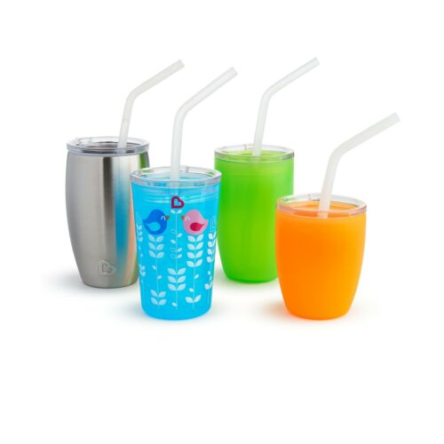 3 Piece Set 1 Set Munchkin Sippy and Straw Lids for Miracle 360 Cups
