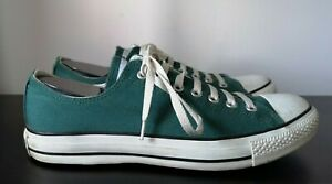 Mens-Converse-All-Star-Green-Canvas-Low-Trainers-UK-10