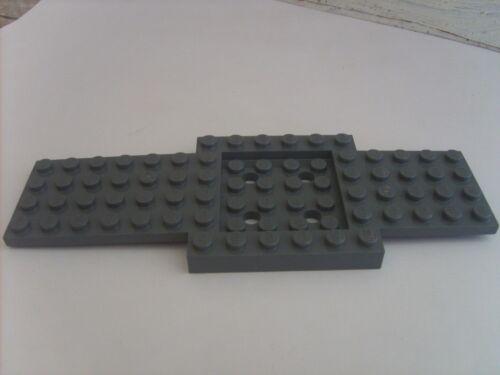 Pièce recherchée LEGO CITY: CHASSIS GRIS FONCE DE VEHICULE 16X6 Réf: 52037 - TBE