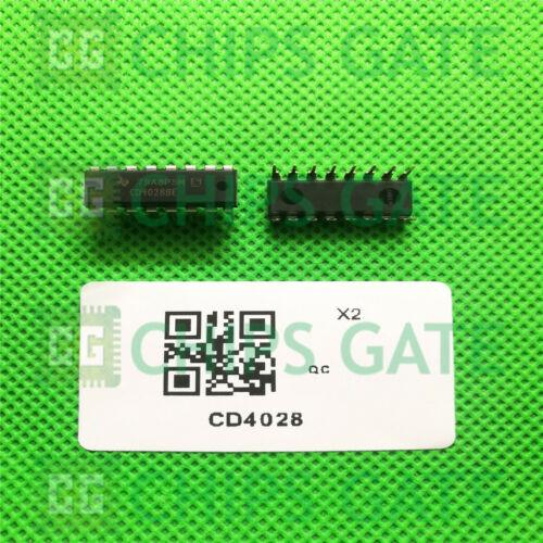 20PCS CD4028 HEF4028 HCF4028 BCD Code Decimal Decoder DIP-16