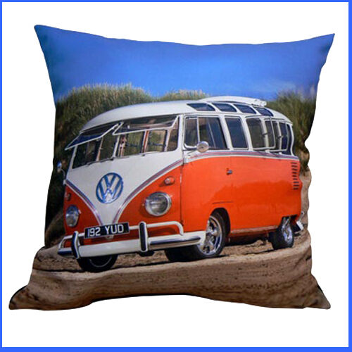 Camper Van Picture printed on a Cushion /& INCLUDES THE FILLING New