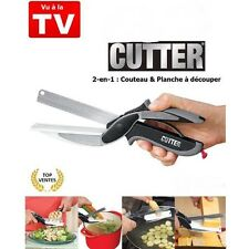 Cutter Alimentaire Hachoir 2 en 1 Ciseau de Cuisine & de la Planche à Découper