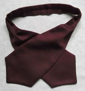 Garçons Cravate Mariage Ascot Cravate Formal Party Taille Unique Noir Bourgogne Vin-afficher Le Titre D'origine De Haute Qualité Et Peu CoûTeux