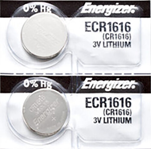 2 x Energizer CR1616 Batteries, Lithium battery 1616