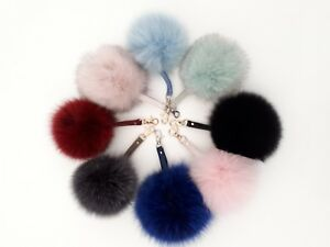 Real-Fox-Fur-Keychain-bag-charm-keyring-with-real-leather-bag-accessory-pom-pom