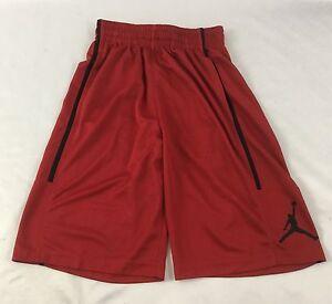 3680c34cacfa Nike Air Jordan MEN S Athletic Basketball Loose Shorts Red Black ...