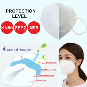Reusable KN95 N95 4 Layers Face Mouth Mask Medical Protective Filter Respirator