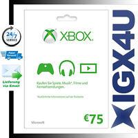 75 Eur Xbox 360 One Live Gold Guthaben 75€ Gift Card - Xbox 75 Euro Live Karte★★