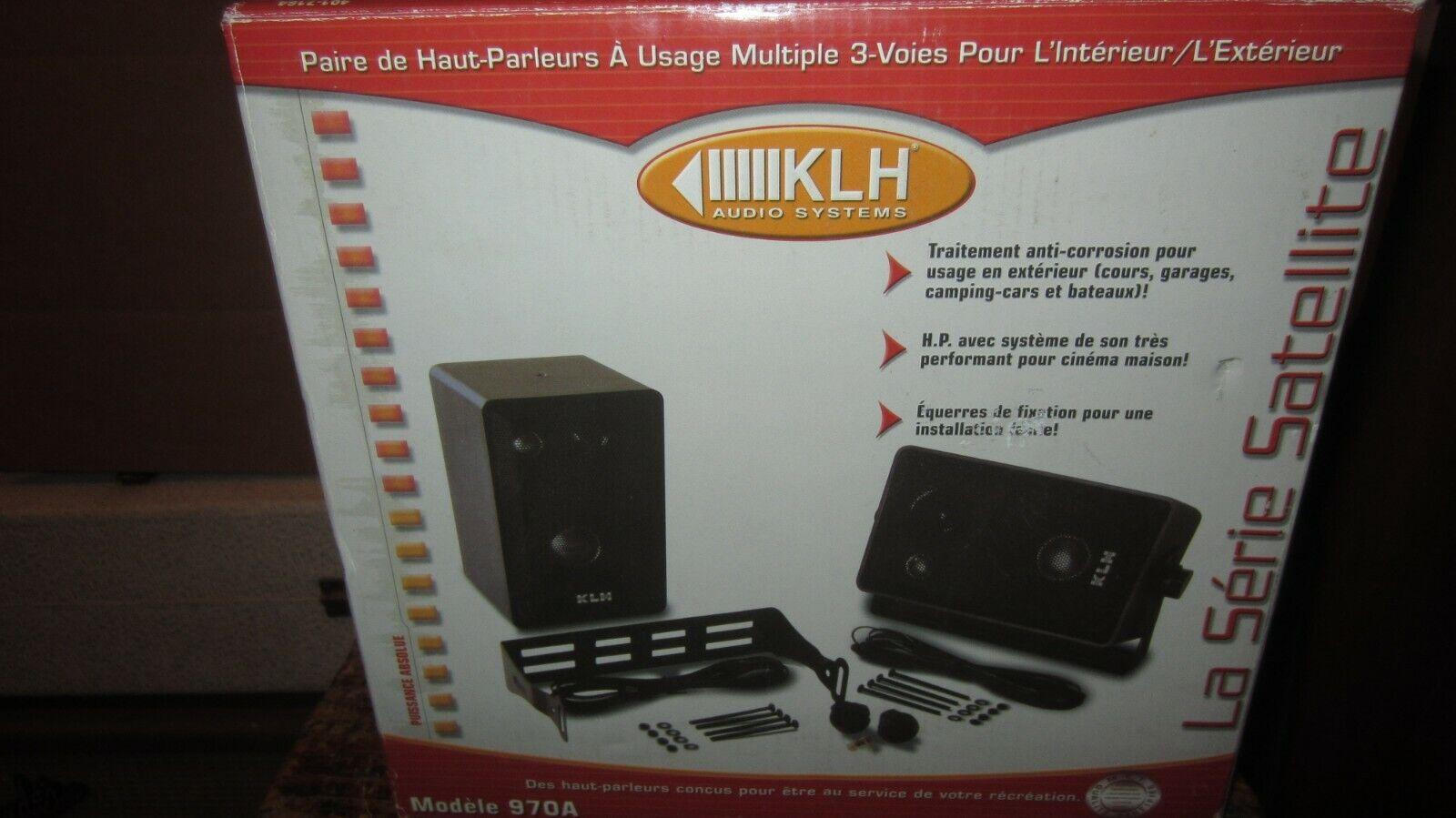 Circa KLH Model 970A Bookshelf Speakers, Open-Box, never installed Excellent