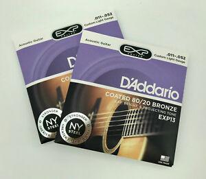 D-039-ADDARIO-EXP13-2-SET-corde-per-Chitarra-Acustica-Coated-80-20-Bronze-011-052