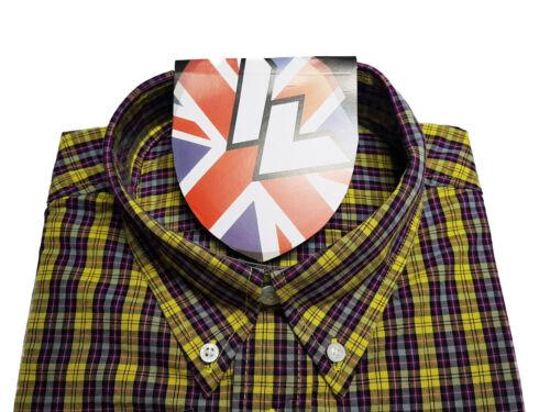 Warrior UK England Button Down Shirt DOUBLE BARREL Slim-Fit Skinhead Mod Retro