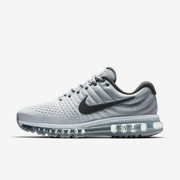 check out 0a400 c3704 Nike Air Max 2017 White Dark Grey Wolf Grey 849559-101 Men's Running Shoes  NEW!