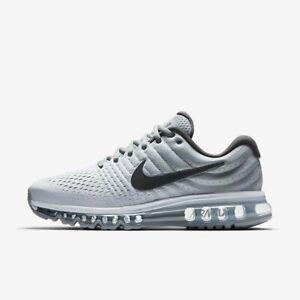 dcb1f6db3b Nike Air Max 2017 White Dark Grey Wolf Grey 849559-101 Men's Running ...