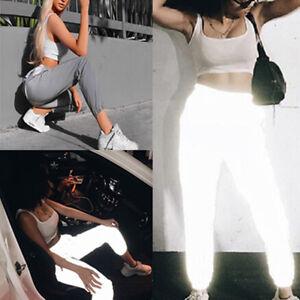 Pantalons-de-jogging-reflechissants-a-la-mode-Casual-Pantalons-sarouel-unis-IY