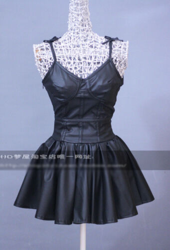 NEW Mirai Nikki Gasai Yuno Cosplay Costume Black Dress Free Shipping