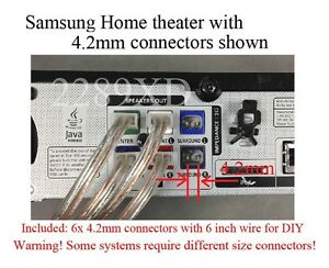 6-4-2mm-speaker-wire-cabe-connectors-Plugs-made-for-Select-Samsung-home-theater
