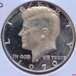 USA-1970-S-Kennedy-Half-Dollar-Silber-Proof-PP-40-Sehr-Selten-San-Francisco-BU
