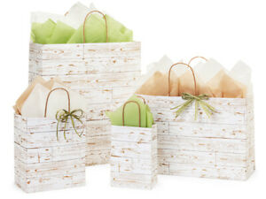 DISTRESSED-WOOD-Design-Print-Party-Gift-Bag-Only-Choose-Size-amp-Package-Amount