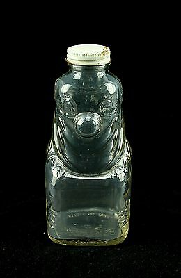 Grapette Products vintage Clown Clear Glass Figural Botte Jar Camden Ark