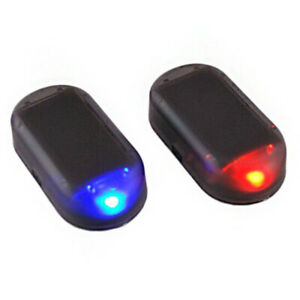 LED-Solar-Alarmanlage-Auto-Kfz-Dummy-Diebstahlsicherung-Alarmleuchte-Licht