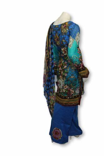 A30 Pakistani Indian Fine Design 3 Pcs Embroidered  Lawn Suit