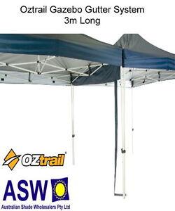 Oztrail gazebo gutter system 3m long deluxe pavilion for Table 3m long