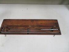 Starrett Model 124c 8 32 Inside Micrometermic Set With Case Ng59