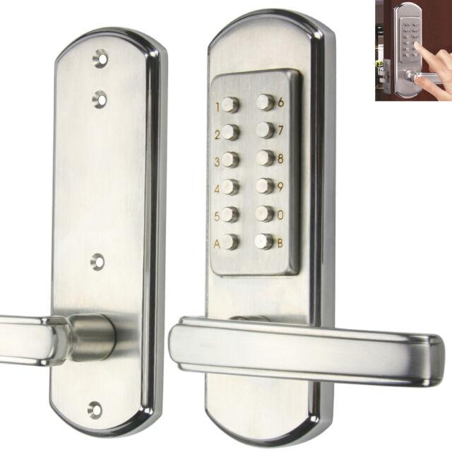 Mechanical Door Lock Combination Entry Keypad Digital Keyless Full Size