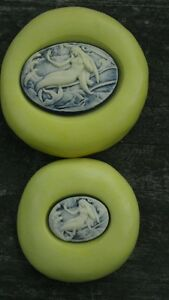 Beautiful MERMAID MOLD Set Cameo Silicone mold polymer clay resin wax sugar