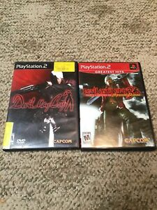 PS2-PlayStation-Game-Lot-Devil-May-Cry-2-amp-3-Lot-Of-2-Complete-Games-Manuals