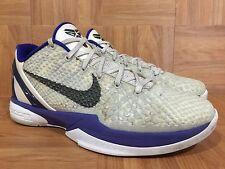 RARE�� Nike Zoom Kobe VI 6 Concord White Metallic Purple 429659-100 Sz 8.5 Dukes