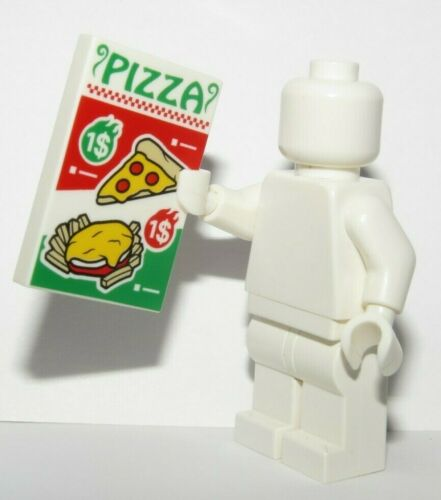 Lego Flat Tile Pizza Menu Sign  Minifigure Not Included Food Restaurant Cafe