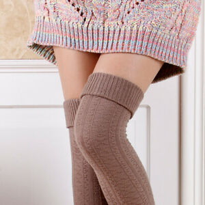 Helpful Winter Thicken Warm Stockings Fashion Thigh High Over The Knee Socks Leg Warmers At Any Cost