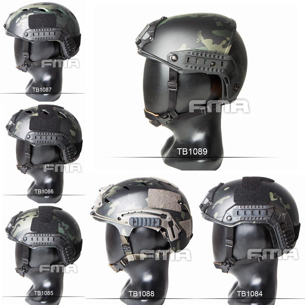 Multicam Negro Caza casco táctico Maritime casco antibalas PJ BJ EX M L XL